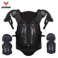 Wholesale Motorcycle Armor Protection - DUHAN Motocross Off-Road Racing Body Armor Waistcoat Motorcycle Riding Protection Jacket Vest Chest Protective Gear Elbow Pads