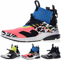 pretty nice 78270 aacc7 Air Presto X Acronym Mens Designer Sneakers 2019 Leopard Print Blue Pink  AH7832-600 Mid Running Shoes New Men Sport Sneakers