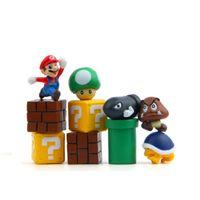 ímãs casa venda por atacado-10 Pçs / lote 3D Bonito Super Mario Resina Ímãs de Geladeira para Crianças Decoração de Casa Enfeites de Parede Estatuetas Caixa de Correio Brinquedos Casa Decoração Da Cozinha