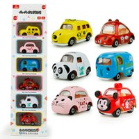 Wholesale panda mouse - 1:64 Car Styling Color Kids Pull Back Model Car Elephant Dog Cat Panda Mouse Educational Toys For Children 3 3hl W