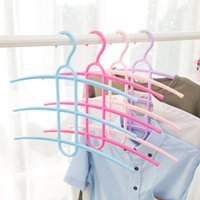 Wholesale Clothing Rack Wholesale - Fashion creative design three-layer non-slip fishbone drying rack wet and dry drying racks multi-functional pants and home tie rack