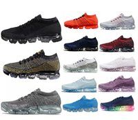 Wholesale Cheap Vapors - Wholesale cheap Vapormaxes Plyknit Running Shoes Men Green Trainers Tennis Vapor Maxes 2018 Shoe Man Homme Sport Authentic Size 7-11