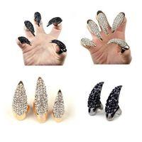 Wholesale hawk rings - 2018 European and American fashion explosive retro hawk claw ring men's diamond ring creative alternative ring ornaments