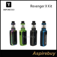 Wholesale X Mini Green - Vaporesso Revenger X Kit 220W Revenger X Box Mod with 5ML NRG Tank 2ML NRG Mini Tank Revolutionary IML Design 100% Original