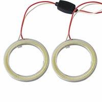 halo-ringe für autoscheinwerfer großhandel-2 Stück Halo Ringe Angel Eye Auto Scheinwerfer COB 60/70/80/90/100/110/120 mm Lampenschirme Bright Auto Drl Angel Eyes Motorrad 12V