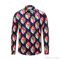 Wholesale harajuku bows - Wholesale men's Medusa shirt 2018 men's fashion Harajuku printed casual shirt luxury brand autumn and winter long-sleeved shirt M-2XL