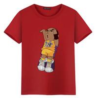 ingrosso stile sportivo-2018 New Chic Mens Womens T-shirt Cartoon stampa manica corta O collo Top Tees Basket Sportswear stile Hip Hop camicetta