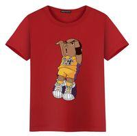 top estampado chic al por mayor-2018 New Chic para mujer para hombre camisetas de dibujos animados de impresión de manga corta O cuello Tops camisetas baloncesto ropa deportiva Hip Hop estilo blusa