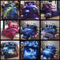 Wholesale luxury cotton sheet sets resale online - 10 Styles D Nebula Bedding Sets Starry Sky Quilt Cover Classical Luxury Sheet Home Textile Bedding sets CCA10195