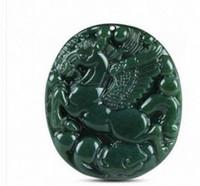 Wholesale white hetian jade - Wholesale - Xinjiang Hetian jade sapphire horse pendant male and female models to success Pegasus round pendant