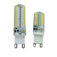 Wholesale g9 corn bulbs online - G9 W W LED Bulb Lamp SMD3014 AC V V Sillcone LED Corn Bulb LEDs LEDs Crystal Chandelier COB Spot Light Warranty Years