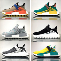 Wholesale Running Sun - NMD Cotton Candy Human Race Shoes BBC Pharrell Hu Trail NMDs - Billionaire Boys Club Nerd Pale Nude Sun Glow Core Black Noble Ink