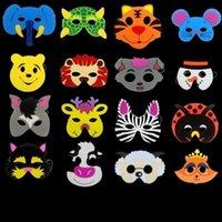 ingrosso animali di maschera di fauna del fumetto-Eva Animal Mask Rifornimenti Festa di Natale Schiuma Maschere a pieno facciale Cartoni animati Bambini Giorno Kindergarten Perfomance Prop 0 72cl ff
