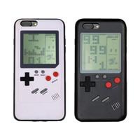 pc spiel weich großhandel-Gameboy Tetris Handytasche für iPhone 7 8 Plus 6 6S X Hart PC Soft TPU kann Blokus Spielkonsole Abdeckung spielen