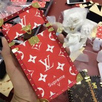 заблокированные телефоны оптовых-Fashion Paris Show Телефон Чехол для iPhone X XS XR Xs Макс 7 7 плюс 8 8 плюс Металл Кожа Золотой Замок Открыть Дизайнерский Чехол