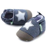 säuglinge gehen schuhe großhandel-Unisex Baby Warme Schuhe Erste Wanderer Cute Star Print Infant Baumwolle Rutschfeste Weiche Sohle Casual Wanderschuhe Herbst Frühling