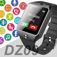 la manzana al por mayor-Para IOS Apple, el reloj inteligente para Android mira el reloj inteligente MTK610 DZ09 montre intelligente reloj inteligente con batería de alta calidad