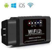 engines wifi оптовых-ELM327 OBD2 WIFI Сканер Автомобильный Диагностический Код Инструмент Считывания OBD II Интерфейс V1.5 Адаптер Двигателя Checker для Android / IOS / Windows