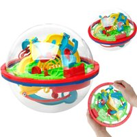 Wholesale Iq Puzzles - 3D Flying Saucer Magic Maze Labyrinth Ball Development Educational Toys IQ for Children Intelligence puzzle toy Steering Wheel Kid