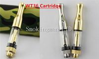 Wholesale Drip Heads - InStock WT36 Glass Cartridge Vape Pyrex Glass Ceramic Coil Head Ceramic Drip Tip CE3 Glass 0.5ML 510 Thread CCELL G5 Cartridges