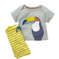 camisas de bebé patrones de animales al por mayor-Ropa para niños bebés Camisetas de verano + Pantalones cortos Diseñador Ropa infantil Conjuntos con patrones de animales Ropa infantil Conjuntos