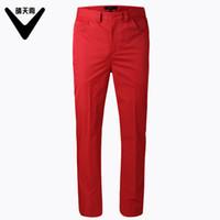xxl koreanische kleidung großhandel-CAIIAWAV Herren- und Herrenhosen für den Frühling und Herbst. Koreanische Version der Slim-Golfhose für Herren. Sportbekleidung