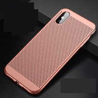 Wholesale hard plastic pc case matte iphone for sale - Full Cover Matte Slim Hard PC Mesh Breathing Case for iPhone X XS XR XS MAX Galaxy S10 S10 PLUS S10E Grid Hollow Out Shell