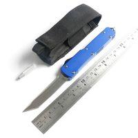 ingrosso lama a baionetta-4 modelli micro ut121 lama automatica in alluminio blu a doppia azione lama a baionetta caccia coltello da tasca pieghevole con strumento regalo di natale per gli uomini