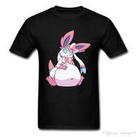 простая розовая рубашка оптовых-Розовый кролик милый графический футболки 3D печати повседневная футболка для студентов смешной дизайн простой хлопок одежда весна топы большой размер XXL