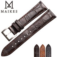 weiche lederarmbänder großhandel-MAIKES Uhr-Zubehör-echtes Leder-Bügelarmband Uhrenarmbänder 18mm 19mm 20mm 22mm Weiche ersetzen Uhr-Armband-Band