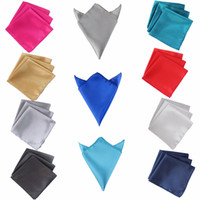 Wholesale pocket handkerchiefs - 50pcs Wedding Table Napkins 30 *30cm Square Satin Fabric Napkin Pocket Handkerchief For Wedding Decoration Event Party Supplies