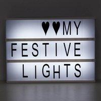 ingrosso lettere numeri di simboli-Fai da te Cinema Light Box Night Lamp formato A4 180 lettere modificabili con Emoticon Simboli e numeri Applicare per la casa e Wedding Decor