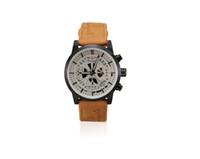 Wholesale Custom Logo Watches - Fashion Generous Quartz Watches Men's And Women's Watches Round Dial Leather Strap Custom Glass Mirror Customization LOGO
