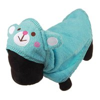 Wholesale Blue Dog Beds - Soft Pet Bath Towel Animal Puppy Cat Warm Blanket Pet Dog Cute Cartoon Dog Bathrobe Multifunction Absorbent Supplies