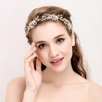 moda hair оптовых-Тиара свадебные аксессуары для волос ручной работы свадебные повязка мода золотые украшения невесты диадемы повязки для женщин Али мода волос