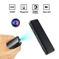 mikro kamera ses kaydedici toptan satış-2018Latest Manyetik Mini Kamera 720 P HD Kalem Kamera kızılötesi Gece Görüş Dijital Video Ses Kaydedici Gizli Eylem Mikro Kam