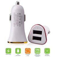 Wholesale 5v 2a mini usb charger for sale – best 5V A dog bone Dual Port Mini USB Car Charger Quick Charger for iPhone x Samsung Xiaomi HTC Huawei metal ring