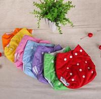 yıkanabilir pamuklu eğitim pantolonları toptan satış-Bebek Bez Nappy Bebek Bezleri Yıkanabilir Kullanımlık Izgara Pamuk Eğitim Pantolon Fraldas Kış Yaz Sürüm Bezi Mix 6 Parça Toptan