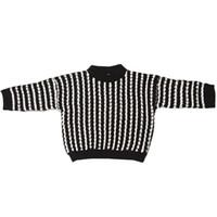 ropa de estilo antiguo al por mayor-Suéter de rayas para niñas Pullover Niñas Suéteres de estilo inglés Chaqueta de jersey de invierno Ropa de invierno para 2-8 años