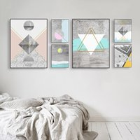 Wholesale texture canvas art - Abstract Geometric Canvas Paintings Nordic Posters Prints Texture Shape Wall Art Vintage A4 Pictures For Living Room Home Decor