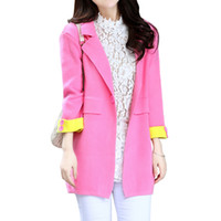 Wholesale candy colored clothes online - Spring Fall New Sweater Women candy colored Suit Collar Knit Cardigan Sweaters Coat Korean Loose Jumper Clothing Vestidos LXJ361