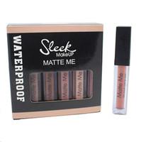 ingrosso trasporto di trucco sleeveless-New Sleek MakeUp 12colors Matte Me Ultra Smooth Lip Cream 6ml Lip Gloss Rossetto Duraturo Impermeabile Spedizione DHL