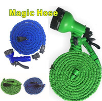 Wholesale retractable hoses - Garden Hose FT FT FT FT Flexible Garden Water Hose With Spray Gun Car Wash Pipe Retractable Watering Equipments T3I0116