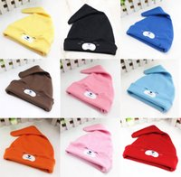 Wholesale wholesale newborn props - Unisex Cotton 0-12 Months Newborn Photography Props Newborn Baby Girl Hat Set Cap