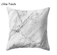 tienda de forro al por mayor-Textura geométrica de mármol Throw Pillow Case Elegante Cojín de líneas Fundas de cojín de la cubierta Home Coffee Shop Telón de fondo