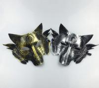 maskeli parti süslemeleri toptan satış-2018 Sıcak satış Parti Kurt Maskesi Cadılar Bayramı Masquerade Parti Maskeleri Kostüm Kurtlar Topu Bar Dekorasyon Yetişkin için Parti Kostüm