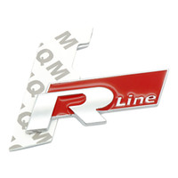 Wholesale R Line Passat - Metal 3D Car Auto Rline Stickers Emblem R Line Badges Emblem for VW GOLF GTI Beetle polo CC Touareg Tiguan Passat Scirocco