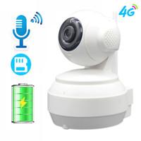 ip kamera gsm toptan satış-3G 4G Pil IP Kamera GSM Sim Kart Cep WIFI 960 P 720 P HD Video Ev Kapalı Güvenlik Kamera FDD LTE Ağ IR Gece Görüş