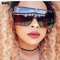 schwarze vintage quadratische brille großhandel-Übergroße quadratische Sonnenbrille für Frauen Vintage Marke Designer Gradient Lens Shades Sonnenbrille Männer große schwarze Rahmen Gläser