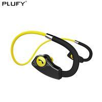 водонепроницаемые наушники bluetooth для бега оптовых-Plufy Wireless Bluetooth Headphones Sports Running Headphones With Mic Waterproof Stereo Music For Mobile Phone